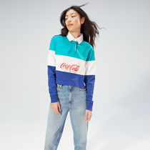 【TOMMY JEANS】Coca-Cola Cropped Fit Rugby Shirt  要在庫確認