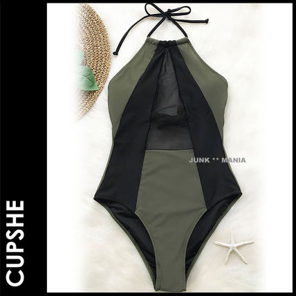 CUPSHE ワンピース水着 ★追跡&関税込【CUPSHE】TAKE MY HEART MESH ONE-PIECE SWIMSUIT