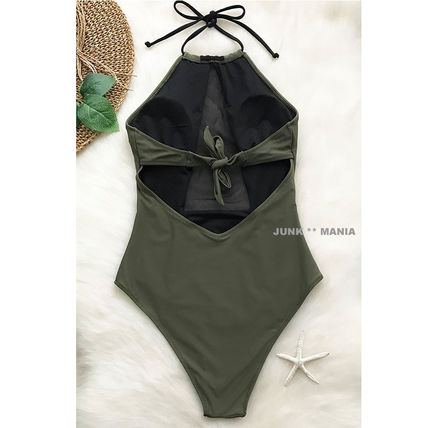 CUPSHE ワンピース水着 ★追跡&関税込【CUPSHE】TAKE MY HEART MESH ONE-PIECE SWIMSUIT(2)