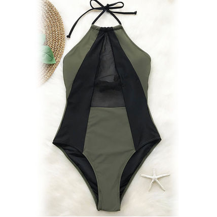 CUPSHE ワンピース水着 ★追跡&関税込【CUPSHE】TAKE MY HEART MESH ONE-PIECE SWIMSUIT(3)