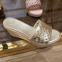 2019 NEW♪ Tory Burch ★ THATCHED WEDGE : 80MM ヒール