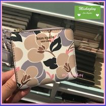 【kate spade】優美なbreezy floral♪ 便利なコンパクト財布★