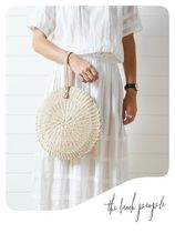[the beach people]AU発☆カゴハンドバッグ☆Scallop Midi Bag
