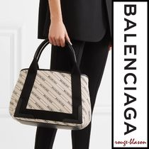 【国内発送】Balenciaga トート Cabas small leather-trimmed