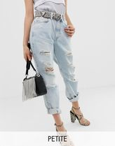 River Island Petite mom jeans in light wash