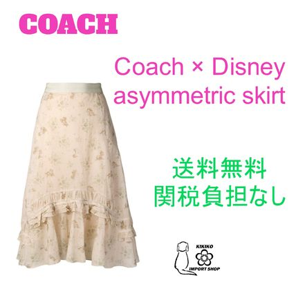 【Coach】Disney asymmetric skirt【送料関税負担なし】