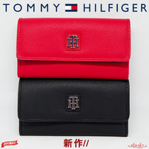 ★ Tommy Hilfiger ★ THロゴ 人気の長財布 RED × BLACK ♪