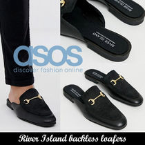 ASOS◆River Island backless loafers◆リアルレザー
