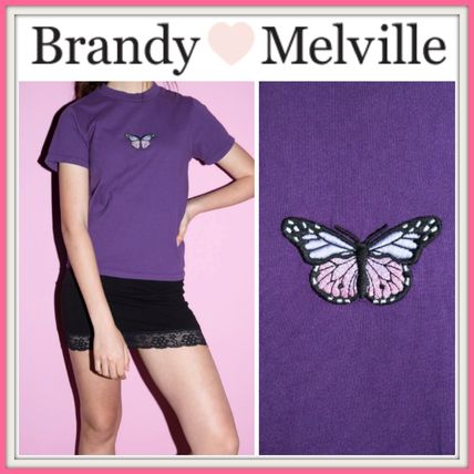 Brandy Melville Tシャツ・カットソー NEW!!  ☆Brandy Melville☆ HELEN BUTTERFLY TOP
