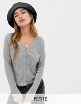 Noisy May Petite textured cropped cardigan