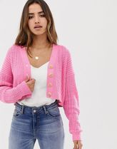 ASOS DESIGN stitch detail cardigan with buttons