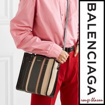 【国内発送】Balenciaga トート Bazar XS striped glossed tote