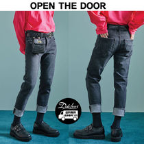 OPEN THE DOOR*washed slim black jeans MU338 / 追跡付