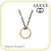 【GUCCI】正規*Gold Necklace with Ring Pendant with snake