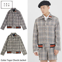 ROMANTIC CROWN★ Color Tape Check Jacket 2カラー