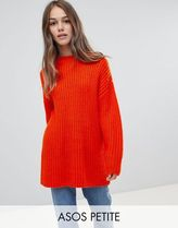 ASOS DESIGN Petite chunky jumper in rib with crew neck