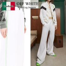 Off white wide-leg joggers