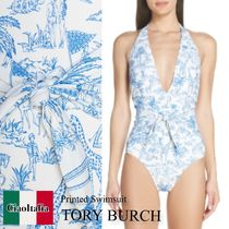 Tory burch printed swimsuit