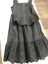 19SS【Bonpoint】レーストップス+スカート 4A (faux noir)