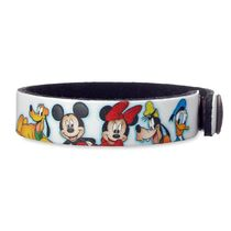 Mickey Mouse and Friends Leather Bracelet - Personalizable
