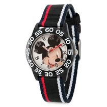 Mickey Mouse Striped Time Teacher Watch - Kids