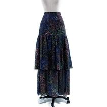 【ERDEM】Abstract voile maxi スカート:40[RESALE]
