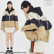 ROMANTIC CROWN ★ Easy Day Vibe Combination Jacket_BEIGE