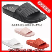 GUESS☆GUESS☆SUSIE LOGO SLIDE SANDALS 関税送料込み 国内発送