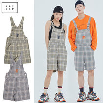 ROMANTIC CROWN★ユニセックス E.D.V Check Overall 2カラー