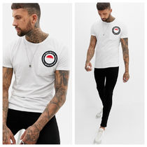 Religion muscle fit t-shirt with logo embroidery