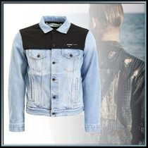 新作◆DENIM JACKET WITH JERSEY INSERTS