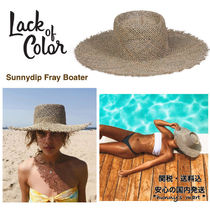 【Lack of Color】AU発 Sunnydip Fray Boater シーグラス ハット
