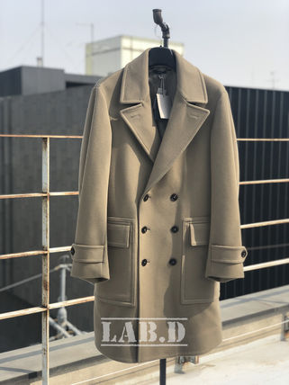 TOM FORD ピーコート TOM FORD★DOUBLE BREASTED WOOL-CASHMERE COAT ロング コート