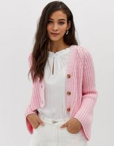 Current Air chunky knit crop cardigan