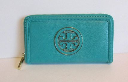 Tory Burch Amanda Zip continental wallet Turquoise blue tumb