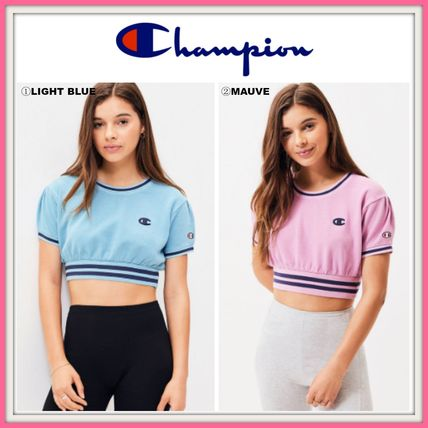 CHAMPION Tシャツ・カットソー NEW!! ☆CHAMPION☆ Vintage Dye Cropped Short Sleeve