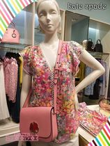 kate spade FLORAL DOTS BURNOUT TOP素敵なフラワー柄トップス