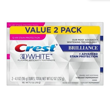 Crest ホワイトニング 2箱♪ Crest 3D White Brilliance + Advanced Stain Protection(2)