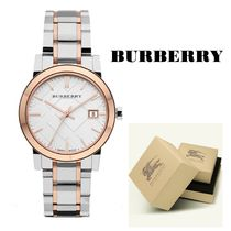 【BURBERRY】☆関税なし!☆ The City Two Tone Ladies Watch