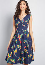 modcloth(モドクロス) ワンピース Keener Postures A-Line Dress