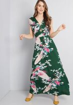 Feeling Serene Maxi Dress in Forest