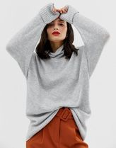 ASOS DESIGN eco chunky jumper in oversize with high neck