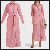 関税送料込Victoria Victoria Beckham Checked Long Shirt Dress