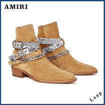 【AMIRI】人気 ブーツ WHITE BANDANA BUCKLE BOOT
