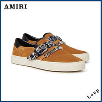 【AMIRI】人気 SLIP ON BANDANA SUEDE SNEAKER BROWN