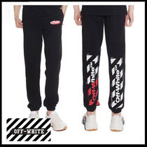 (オフホワイト) DIAGONAL SWEATPANTS OMCH014S 19003006
