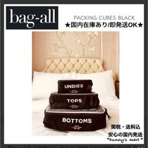 【Bag-all】NY発♡トラベル 旅行 PACKING CUBES 黒