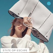 大人気の白!!★State of Escape★ Escape Tote -WHITE-