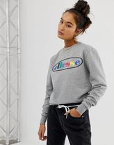 relaxed sweatshirt with rainbow front logo exclusive to ASOS