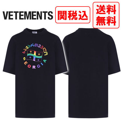 VETEMENTS Tシャツ・カットソー 関税・送料込 VETEMENTS FLAG JERSEY Tシャツ